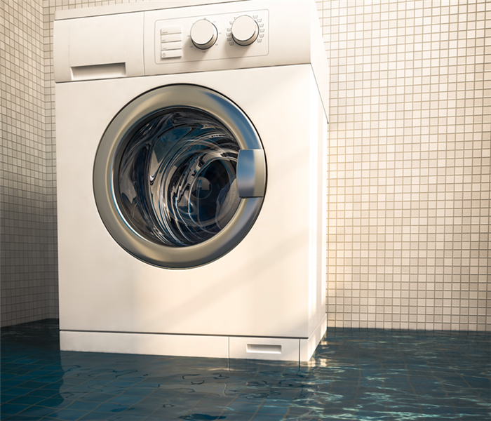 washing machine in flooded area