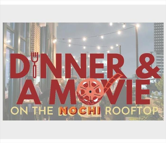 Dinner and a movie banner