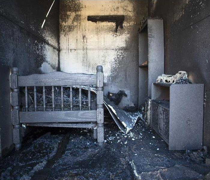 Burned Out Bed Room